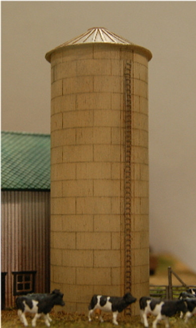 Z-SCALE SILO (CONICAL-RIBBED) 2-PACK
