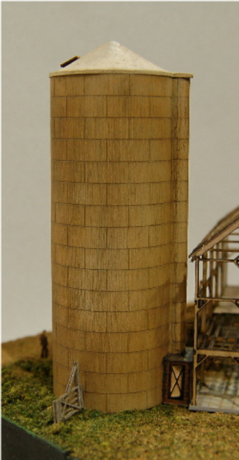 Z-SCALE SILO (CONICAL-CONCRETE) 2-PACK