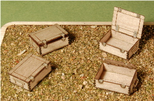A-SCALE WOOD CRATE-7, 4-PACK