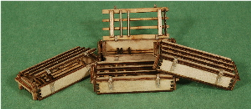 A-SCALE WOOD CRATE-8, 4-PACK