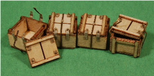 A-SCALE WOOD CRATE-11, 4-PACK