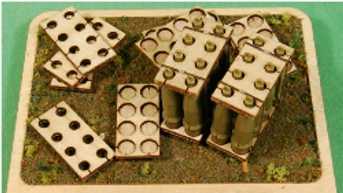 1:35-SCALE 155MM HOWITZER 8-RND PALLET 4-PACK