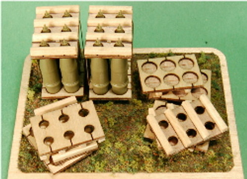 1:35-SCALE 203MM HOWITZER 6-RND PALLET 4-PACK