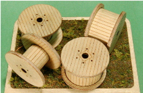1:35 SCALE CABLE REELS (LARGE) 4-PACK