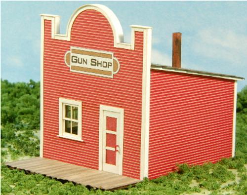 HO- SCALE GUN SHOP - OLD WEST SERIES #1