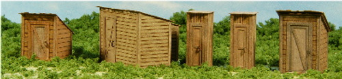 HO - SCALE OUT BUILDINGS - OLD WEST SERIES #2 - 5-PIECES