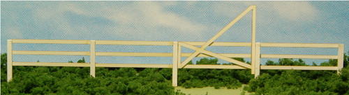 HO-SCALE 3-SLAT FENCE & GATES