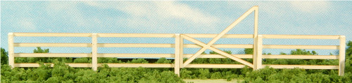 HO-SCALE 4-SLAT FENCE & GATES