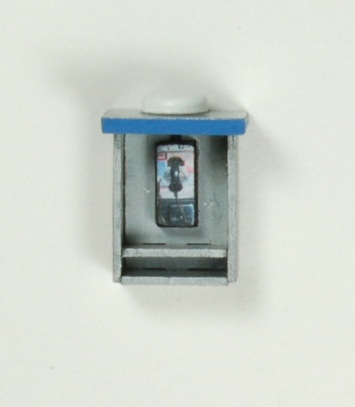 19091 - HO-SCALE TELEPHONE BOOTH STRAIGHT SIDES 2-PACK