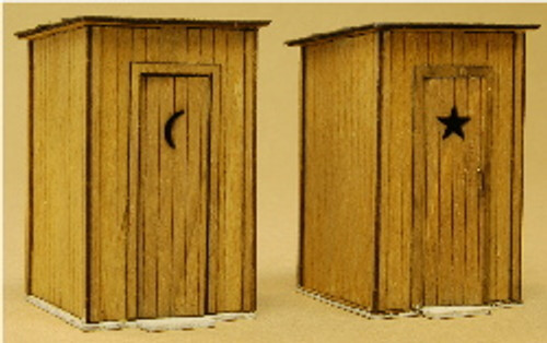 1145 - HO-SCALE OUTHOUSE 2-PACK