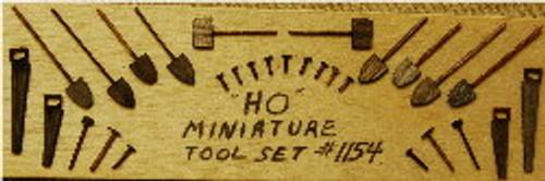 1154 - HO-SCALE TOOL SET 30-PCS