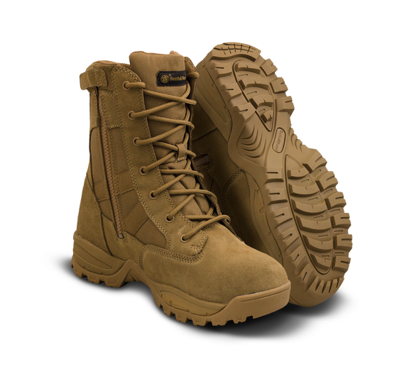 """Smith & Wesson Breach 2.0 8"""" Coyote Side Zip Waterproof Boots 810403"""