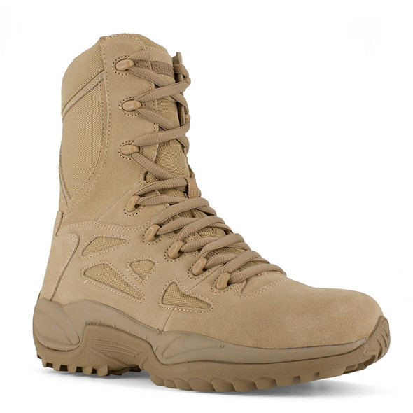 Reebok Rapid Response RB Tan Stealth Side Zip Boots RB8895