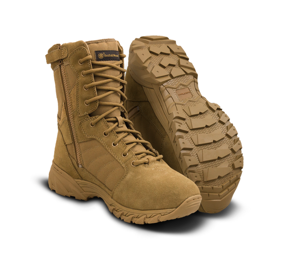 """Smith & Wesson Breach 2.0 8"""" Coyote Side Zip Boots 810203"""