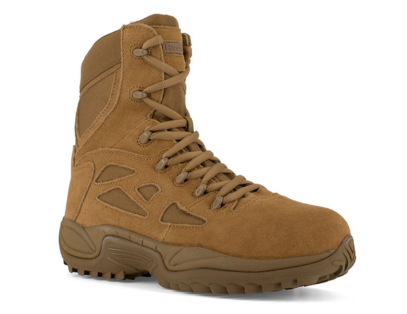 """Reebok 8"""" Rapid Response RB Coyote Composite Toe Side Zip Boots RB8850"""