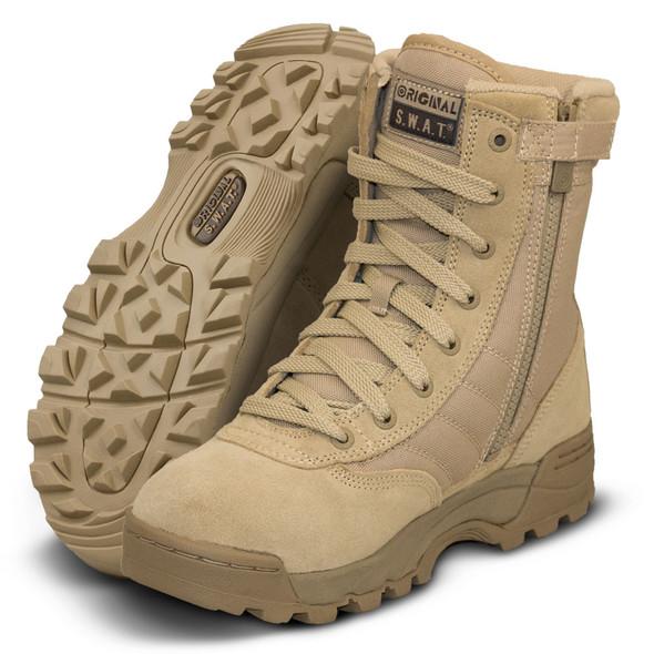 "Original SWAT Classic 9"" Tan Side Zip Boots 115202"