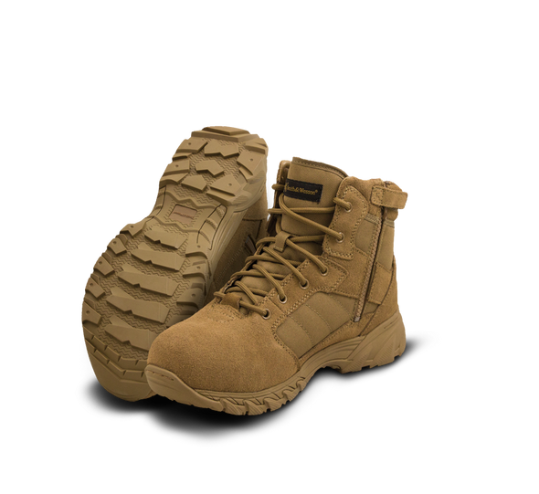 """Smith & Wesson Breach 2.0 6"""" Coyote Side Zip Boots 810303"""
