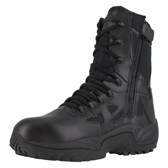 Reebok Rapid Response RB Stealth Composite Toe Side Zip Boots RB8874