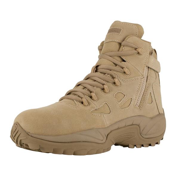 "Reebok 6"" Rapid Response RB Tan Composite Toe Side Zip Boots RB8694"