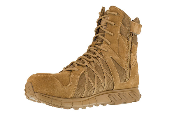 Reebok TrailGrip Tactical Coyote Composite Toe Side Zip Boots RB3460