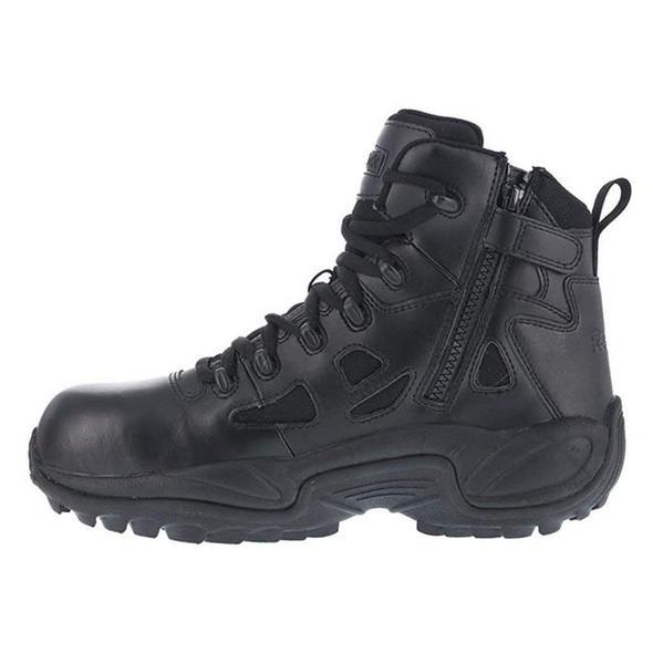 "Reebok Women's 6"" Rapid Response RB Composite Toe Side Zip Boots RB864"