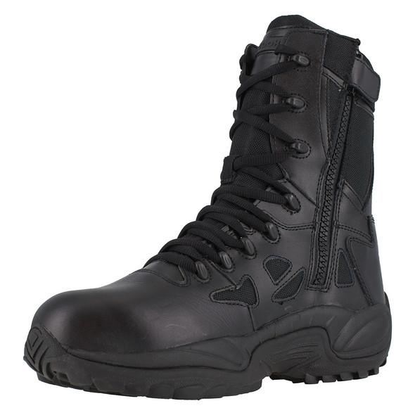"Reebok Women's 8"" Rapid Response RB Composite Toe Side Zip Boots RB874"