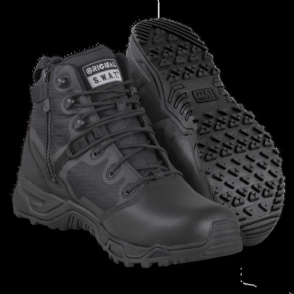 Original SWAT Alpha Fury 6 Polishable Toe Side Zip Boots 176301