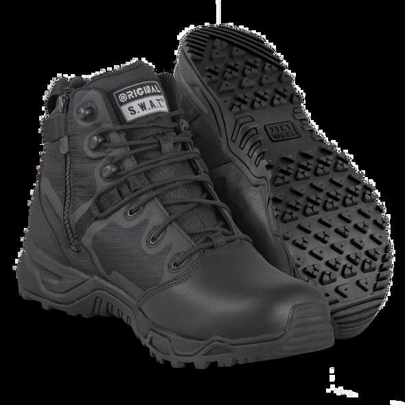 Original SWAT Alpha Fury 6 Polishable Toe Waterproof Side zip Boots 176501