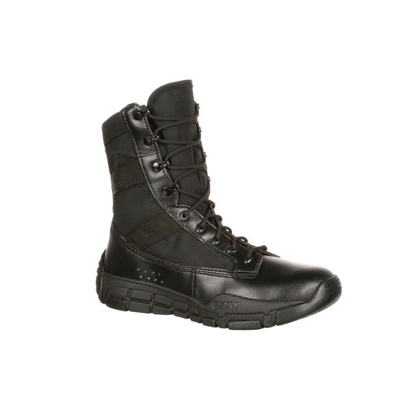 "Rocky 8"" Black C4 Trainer Polishable Toe Boot RY008"