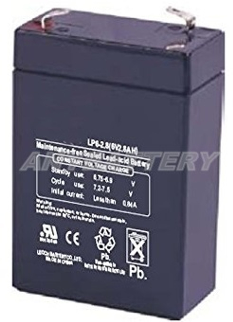 Power-Sonic PS-628, Powersonic PS628, Enersys NP2.8-6, Infinity IT3.2-6, Leoch LP6-2.8, Ritar RT628