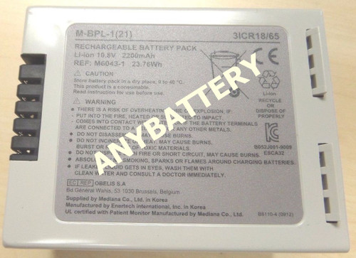 Nellcor Bedside Monitor Battery 10005948, M-BPL-1(21), M6043-1