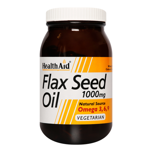 HealthAid Flaxseed Oil Capsules contain 1000mg of pure Flaxseed Oil, rich in omega 3, and is also known as Linseed Oil.