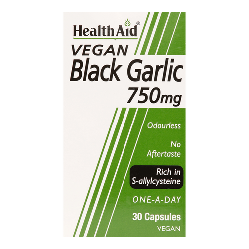 HealthAid Black Garlic capsules provide more heart protective compounds than white garlic.