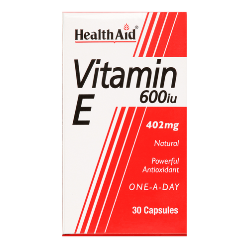 HealthAid Vitamin E 600iu functions as a natural powerful antioxidant, which helps combat free radical damage to the body.