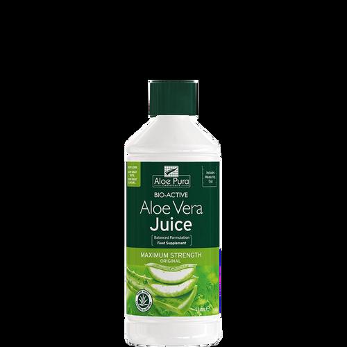 Aloe Pura Maximum Strength Aloe Vera Juice helps to improve digestion, skin problems & motility in the gut