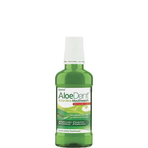 Aloe Dent Mouthwash cleans, protects and freshens breath and is suitable for the whole family