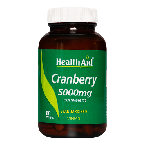 HealthAid Cranberry Tablets are used for cystitis treatment and to prevent bladder infection.