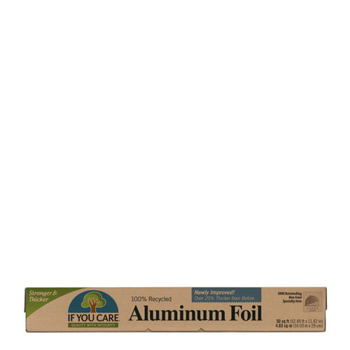 If You Care Aluminium Foil is made with 100% recycled aluminium using less energy that traditional foil manufacturing.