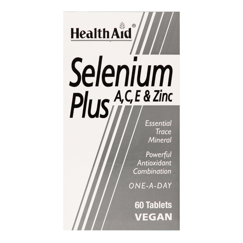 HealthAid Selenium Plus is a specially formulated supplement, fortified with vitamins A, C, E and Zinc, to provide a powerful antioxidant.