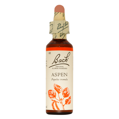 Bach Aspen flower essence is indicated for people who are seized by sudden fears or worries for no specific reason