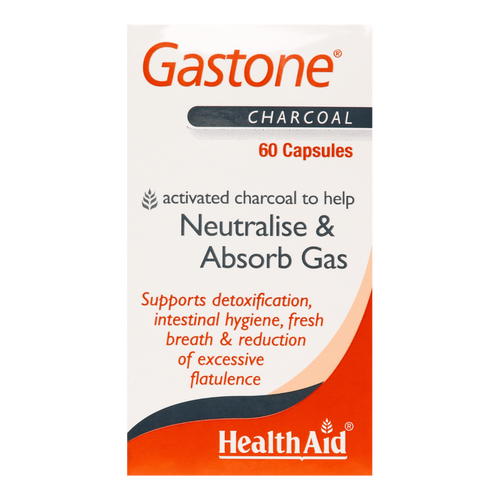 HealthAid Gastone Activated Charcoal helps to remove toxins, neutralise body odour & ease acid reflux.