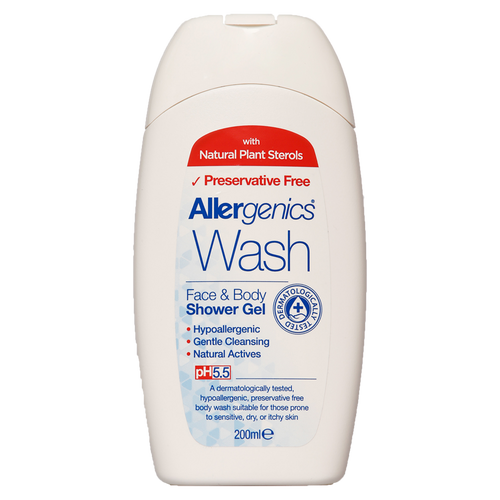 Allergenics face and body shower wash have been formulated after extensive research and dermatological studies. It is particularly recommended as a soothing treatment for those with easily irritated, dry, itchy skin or for those prone to sensitive skin conditions.