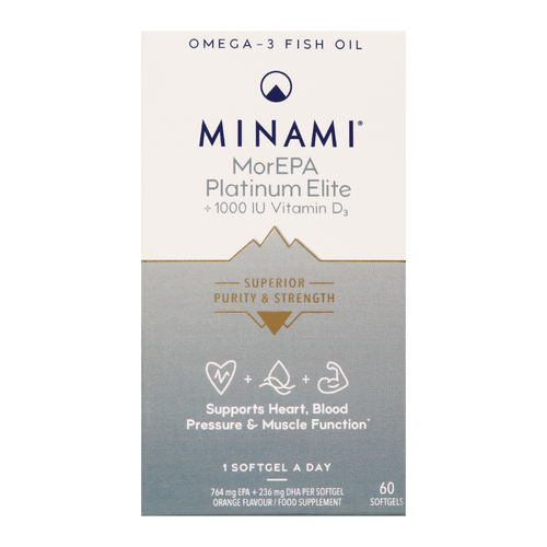 Minami MorEPA Platinum contribute to the normal function of the heart.