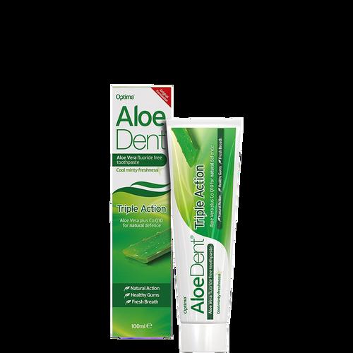 Aloe Dent Triple Action Toothpaste - Fluoride Free