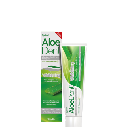 Aloe Dent Whitening Toothpaste is a fluoride-free toothpaste and a breakthrough in the science of oral hygiene