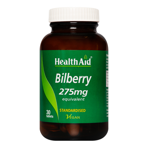 HealthAid Bilberry Tablets are formulated using the best quality bilberry extracts and powders; derived from wild crafted or organically grown herbs meticulously processed to maintain purity and high potency.