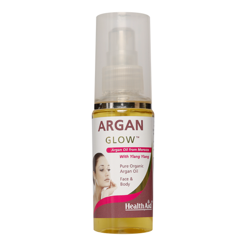 HealthAid Argan Glow Oilit amust for those looking to restoreskinradiance, while minimising fine lines, wrinkles, scars anddark circles.