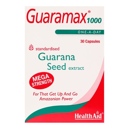 HealthAid Guaramax Guarana 1000 Capsules is good for People with low energy or those suffering from faigue