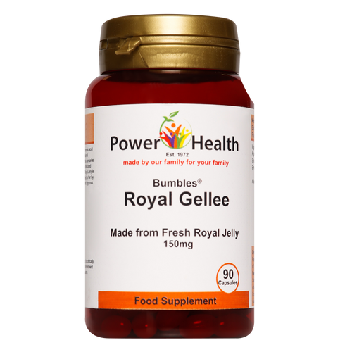 Bumbles Royal Jelly capsules may enhance energy, restore nutrient deficiencies and have a wide range of reported health benefits