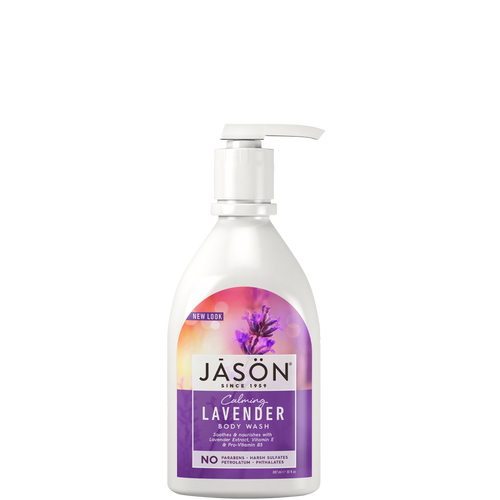 Jason Calming Lavender Body Wash rebalances your skin's moisture levels, cleans skin and soothes your mind with each wash